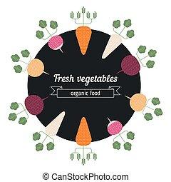 Turnips, daikon, radish, carrot vegetables illustration....