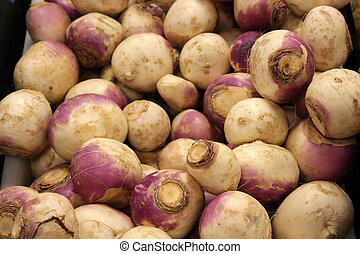Turnips for sale at the market