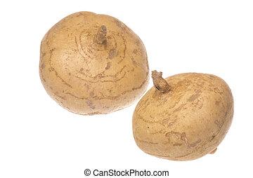 Isolated image of fresh turnips.