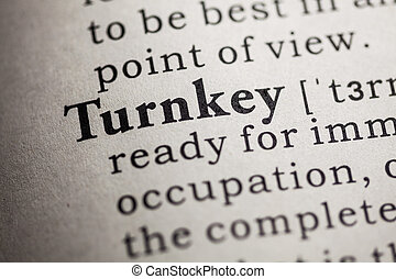 turnkey - Fake Dictionary, Dictionary definition of the word...