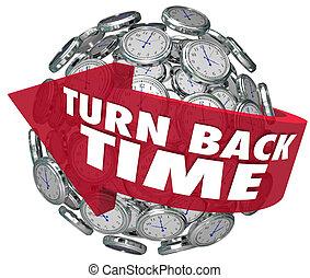 turno, orologio, indietro, sfera, freccia, tempo