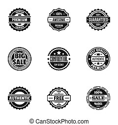 Turnover icons set, simple style - Turnover icons set....
