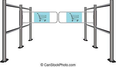 Turnstile for shopping carts