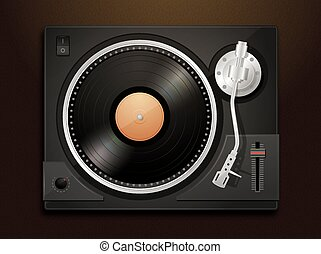 Turntable detailed vector illustration
