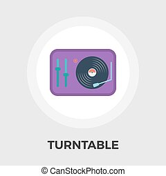 Turntable flat icon.