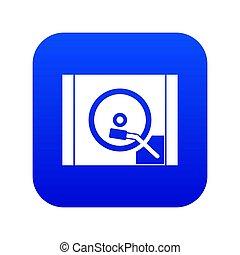 Turntable icon digital blue