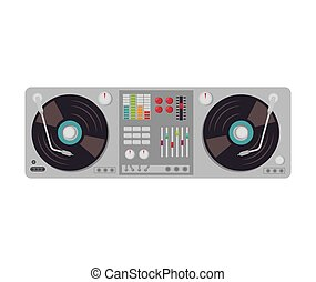 turntable music device - music dj party turntable technology...
