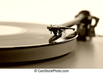 turntable - A record on a turntable.