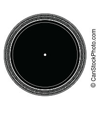 Precise copy of a DJ turntable plate