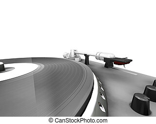 Turntable - 3D render of a turntable