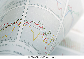 Abstract Financial Chart Background