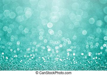 turquesa, cerceta, destello, fondo verde, resplandor