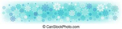 turquesa, jogo, snowflakes., luz, elegante, fundo, natal