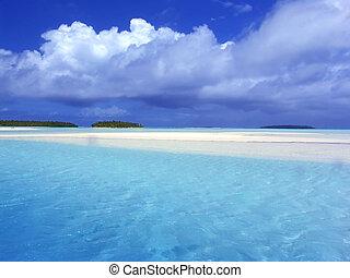 turquesa, lagoa