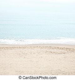 turquesa, pastel, playa, tranquilidad, verano, sea., water...