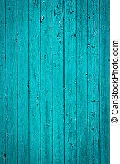 turquesa, plano de fondo, madera, viejo