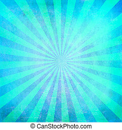 turquesa, sunburst, plano de fondo, blanco