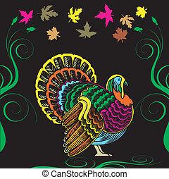 turquia ação graças, cartão
