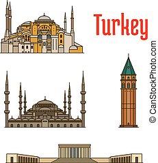 turquie, bâtiments, historique, architecture
