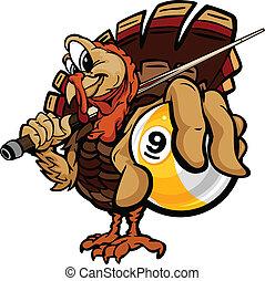 turquie, balle, image, billard, thanksgiving, dessin animé,...