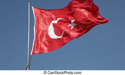 turquie, drapeau national