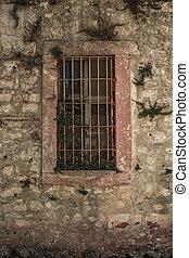 turquie, fenêtre, historique, abandonnés,  prison