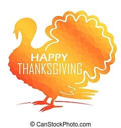turquie, heureux, thanksgiving, carte, invitation
