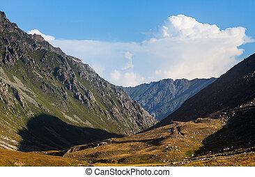 turquie, montagnes, coloré, été, ceci, vue