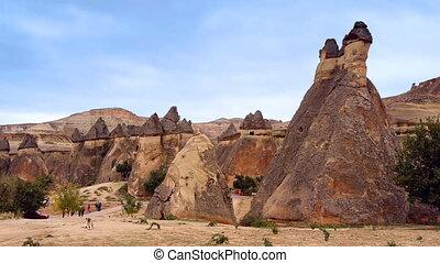 turquie, nature, miracle, 5, cappadocia, fée, vacances, tourisme, cheminée