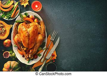 turquie, rôti, jour, thanksgiving
