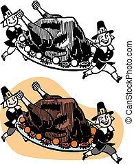 turquie, servir, pélerins