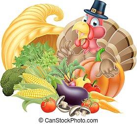 turquie, thanksgiving, corne abondance