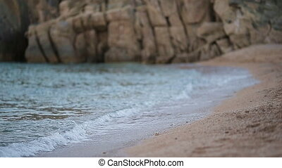 Turquiose water and white sand on one of the european beaches