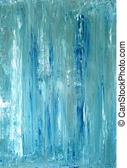 Turquoise Abstract Art - This is an image of an original...