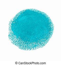 Turquoise acrylic paint circle - Turquoise acrylic paint...