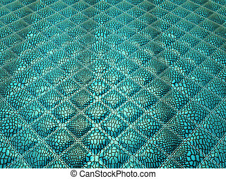 Turquoise Alligator stitched skin
