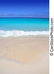 turquoise, antilles, sable, rivage, mer, plage blanche