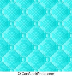 turquoise pattern seamless or background with ornaments