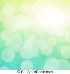 turquoise, bokeh