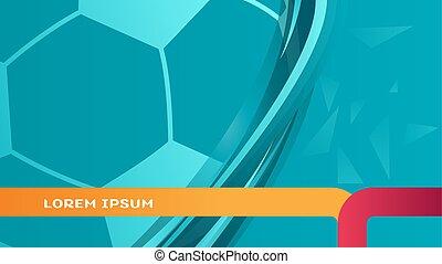 turquoise, championnat, sports, européen, dynamique, 2020, football, fond, euro, football, résumé, uefa