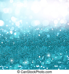 Turquoise Christmas glitter background - Christmas...