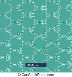 turquoise color floral pattern background