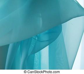 Turquoise Fabric - Turquoise fabric pattern background