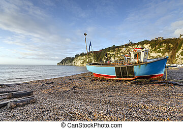 Turquoise Fishing Boat