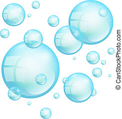 Turquoise Floating Soap Bubbles