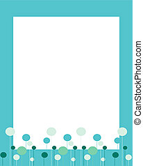 Turquoise frame with lovely baloons