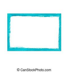 Turquoise grunge frame