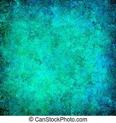 turquoise, grunge, struktureret, abstrakt, baggrund