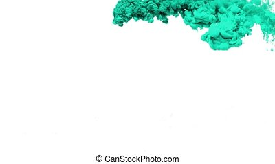 Turquoise Ink in Water