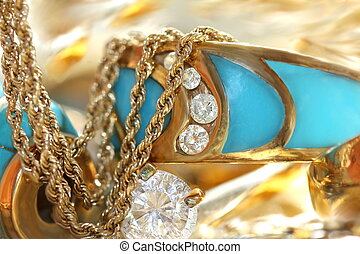 Turquoise  jewelry - Turquoise and diamonds jewelry